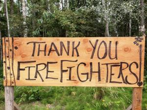 Community Support for the Work on the Shovel Creek Fire