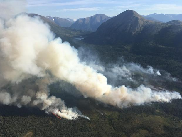 Strong northwest winds have increased fire behavior throughout the fire area.