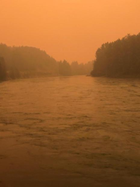 Strong winds have increased fire activity and increased smoke in the Upper Kenai River.
