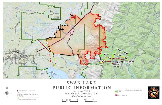Swan Lake Fire Map