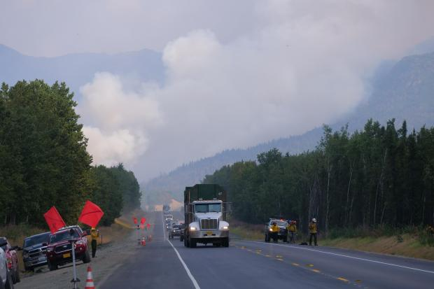 Sterling Highway traffic impacts August 23
