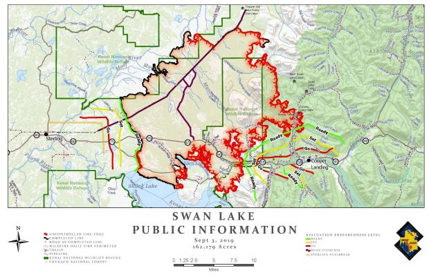 Swan Lake Fire Public Information Map - Sept. 3