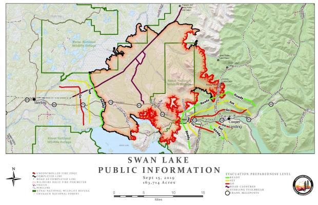 Swan Lake Fire Information Map - Sept. 15, 2019