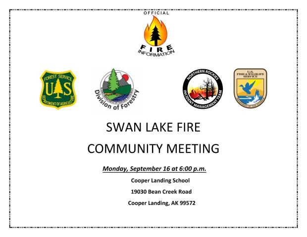 Flyer for Community Meeting Sept 16