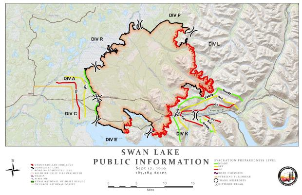 Swan Lake Fire Information Map - Sept. 17, 2019