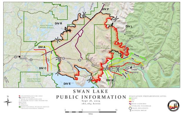Swan Lake Fire Information Map - Sept. 18, 2019