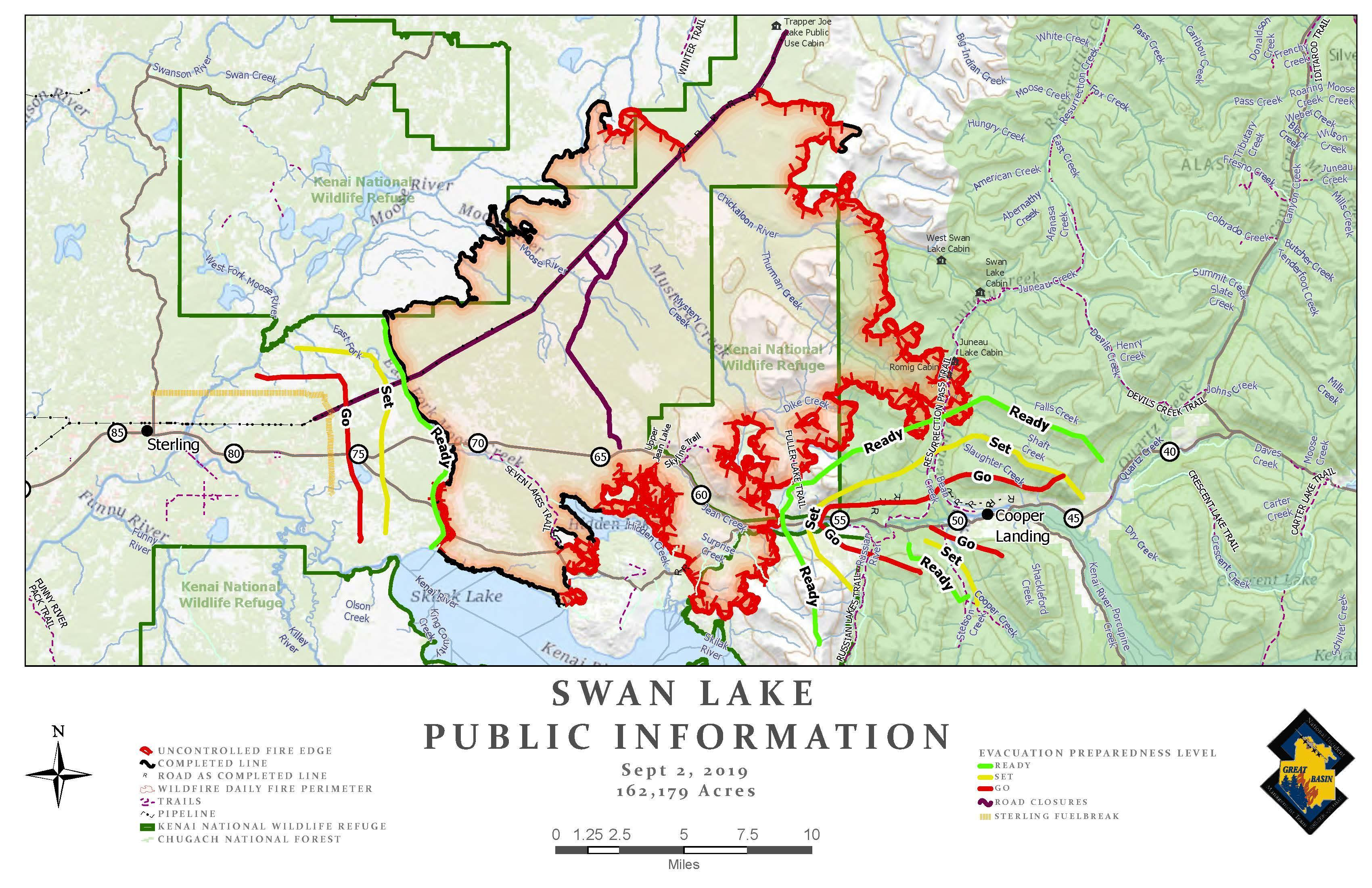 Swan Lake Public Information Map - Sept. 2