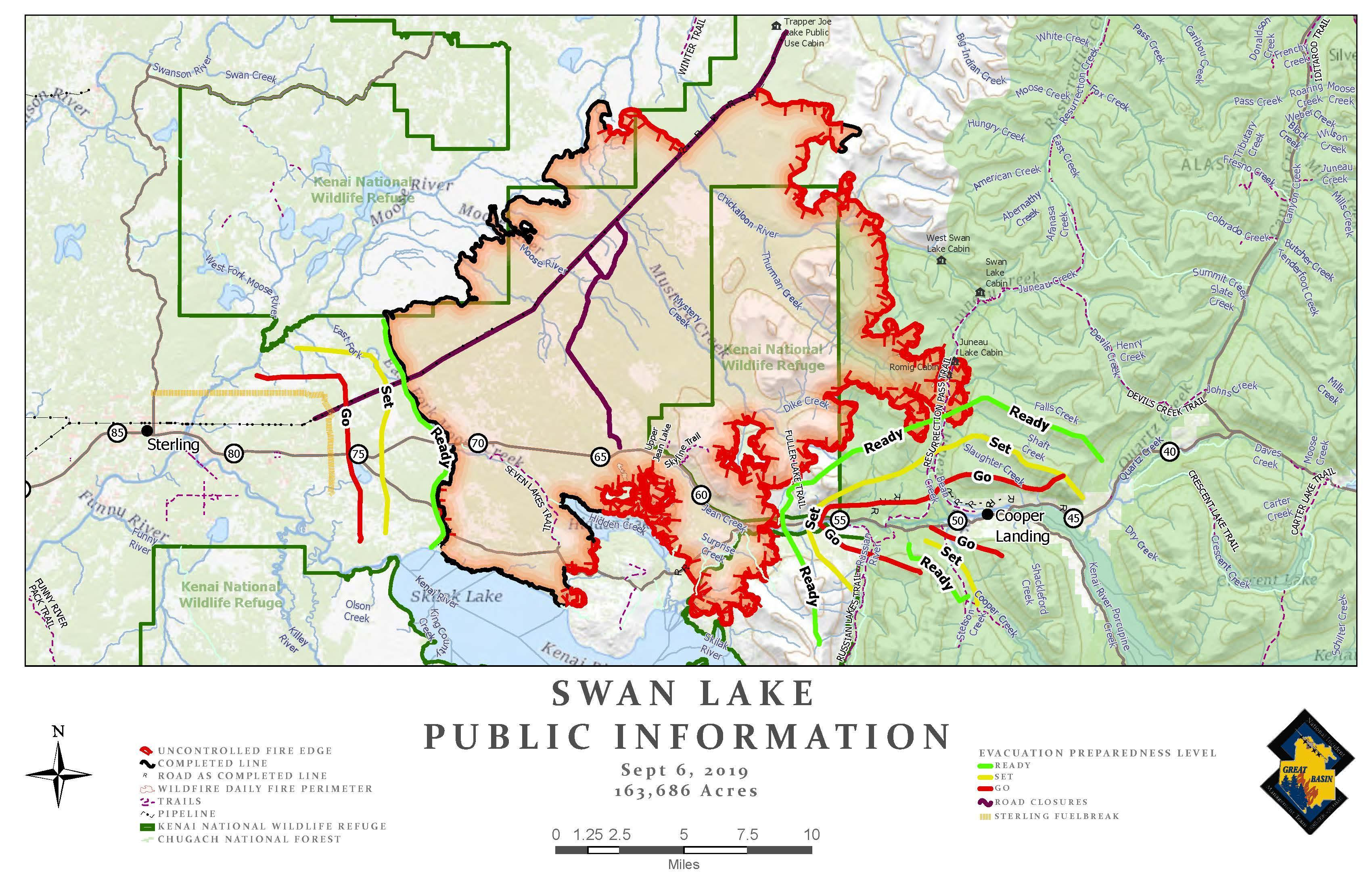 Swan Lake Public Information Map 9/6/19