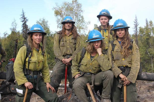 Longest-Haired Members of the Prineville Hotshots at the Deshka Landing Fire 2. Photo: Mike McMillan - DNR