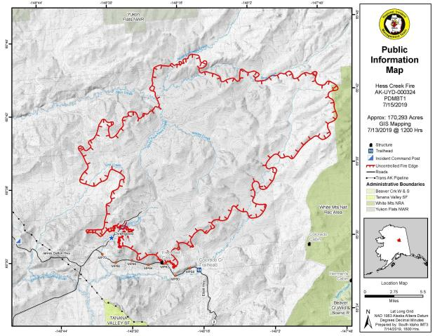Hess Creek Fire Maps - InciWeb the Incident Information System