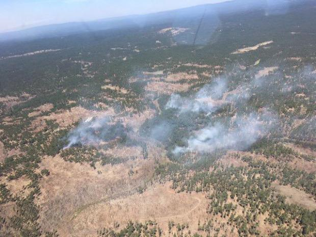 Boggy Creek Fire from recon flight 5/24/21