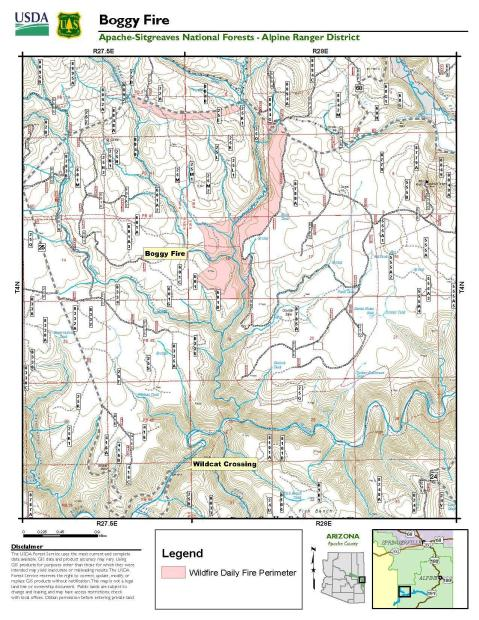 Boggy Creek Fire Map 5/26/21