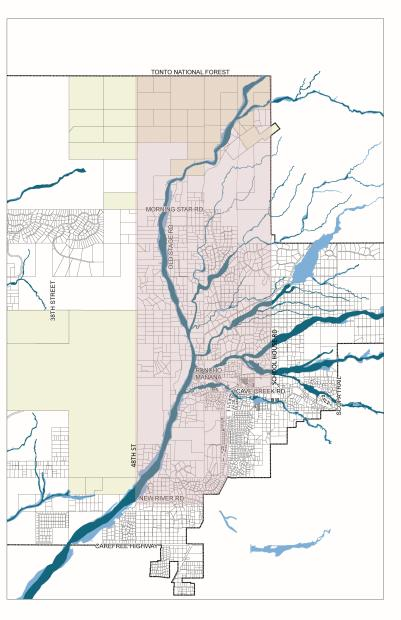 Map of the Ocotillo Fire evacuation area