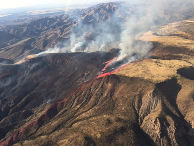 The Central Fire as seen from the air.