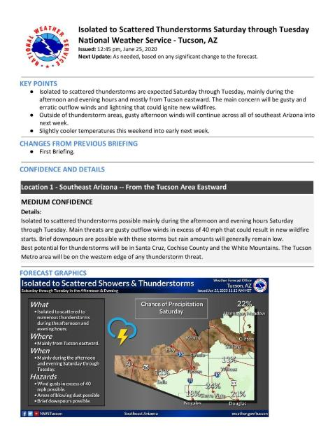 NWS doc about winds and lightning