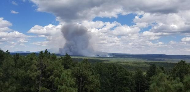 View of Whiskey Fire from Turkey Butte Lookout on Sept. 18, 2019