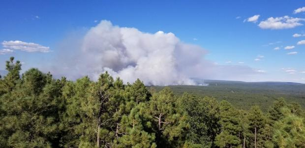 View of Whiskey Fire ignition operations on Sept. 18, 2019
