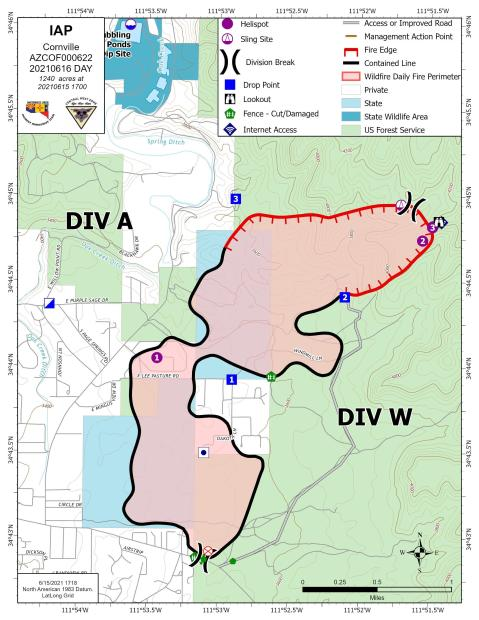 74% contained fire perimeter map 6-15-21