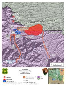 Ikes Fire PIO Map August 21, 2019