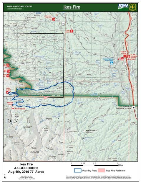 Ikes Fire Perimeter Map August 5, 2018