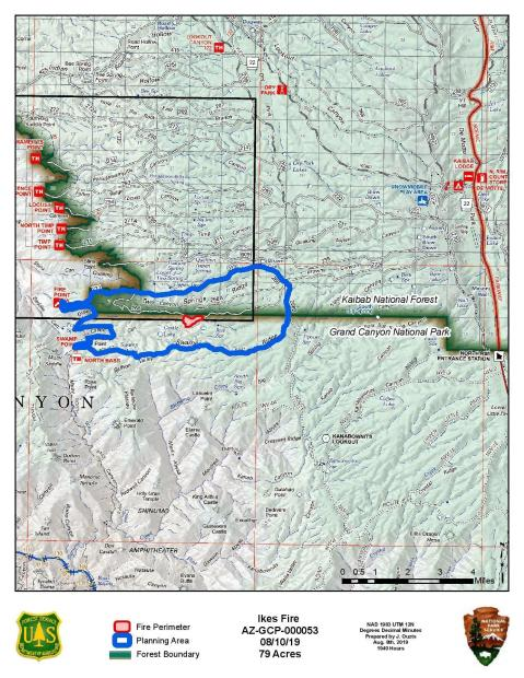 Ikes Fire PIO Map 08/10/2019