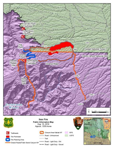 Ikes Fire Public Information Map August 15, 2019