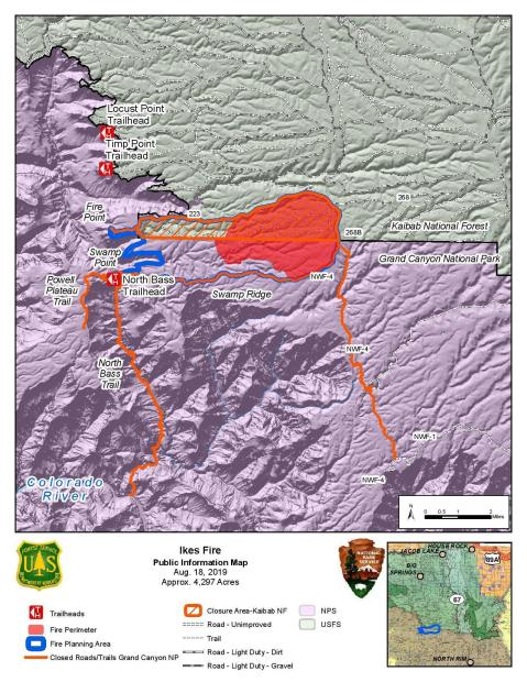 Ikes Fire PIO Map 081819
