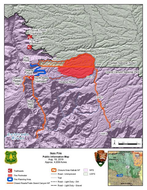 Ikes Fire PIO Map August 19, 2019