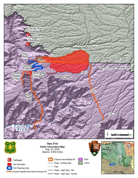 Ikes Fire PIO Map August 23, 2019