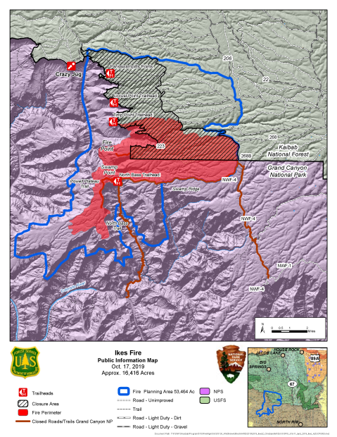 Ikes Fire map as of Oct. 17, 2019