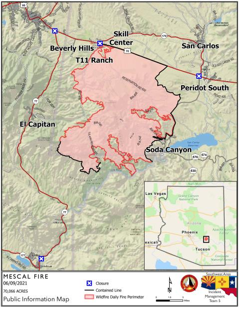 Updated Fire Map 6-9-21