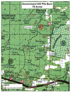 Gov Hill Pile Burn Vicinity Map