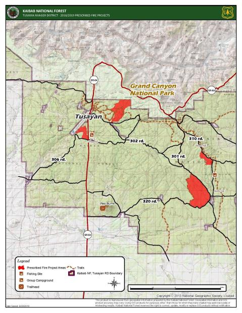 Reed and Russell Rx Fire Locations