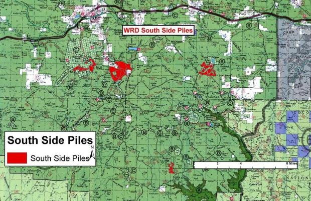 Specific Locations of Pile Burns