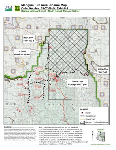 Updated Kaibab NF Temp Closure Map 7.25 Due to Mangum Fire