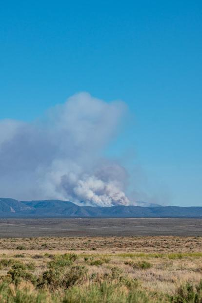 Smoke from Mangum Fire as seen from Fredonia, Ariz., on June 8, 2020. Photo by C.J. Adams. Credit Kaibab National Forest