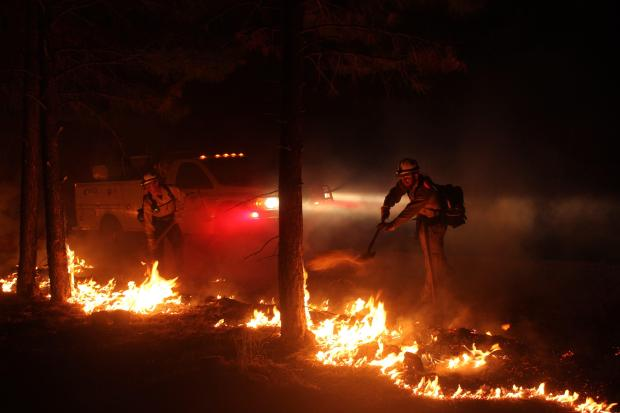 Mangum Fire Night Operations for June 17, 2020  Photo Credit: Mike McMillan
