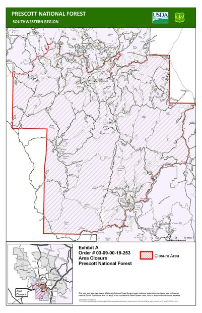 Map Of Arizona Prescott.Cellar Fire Maps Inciweb The Incident Information System