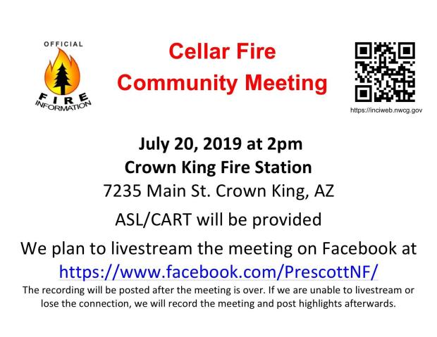 July 20th Community Meeting Poster