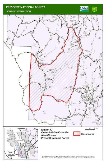 Revised Cellar Fire Closure Map, Effective July 24