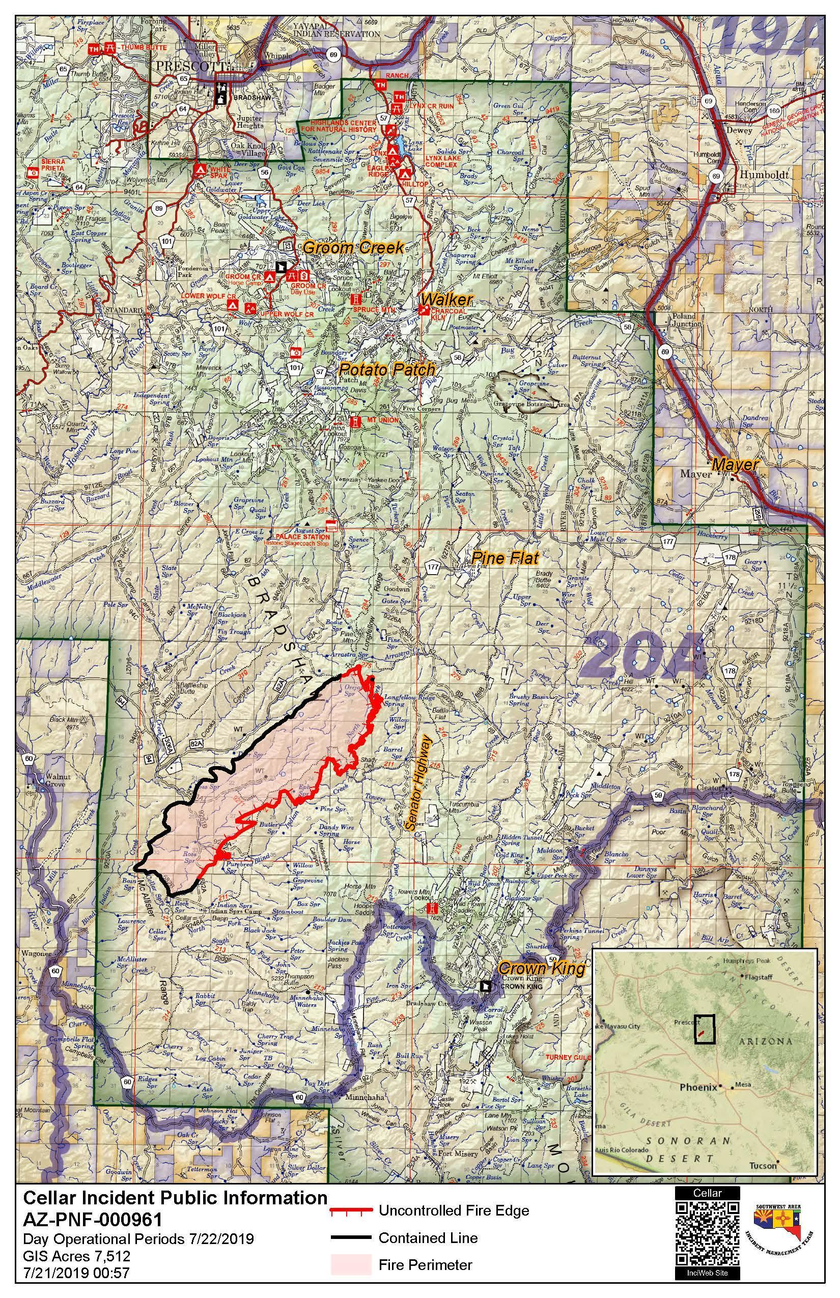 PIO map for Monday, July 22.