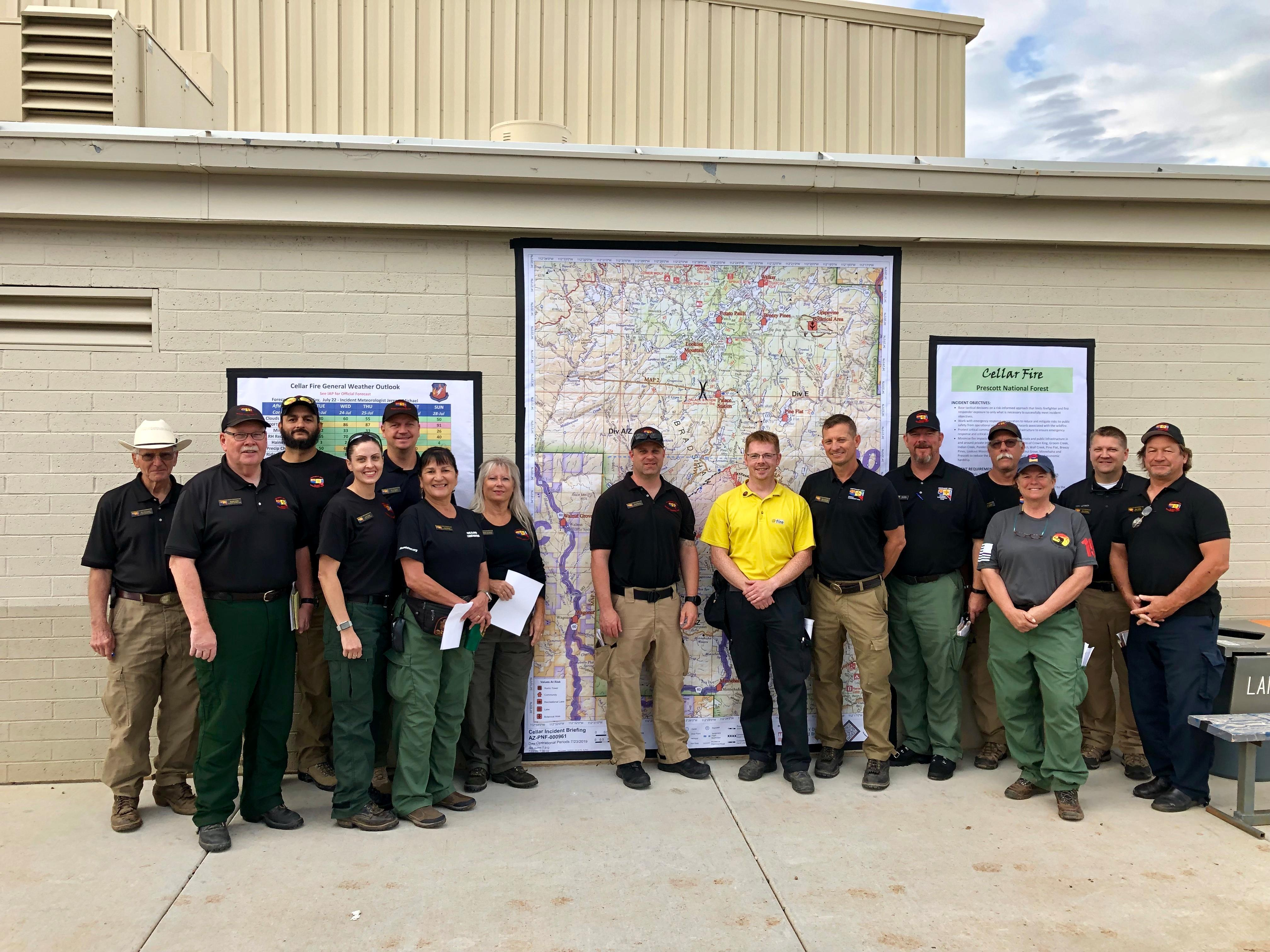 Members of the Type 1 Southwest Area Incident Management Team #1