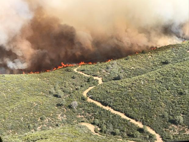 aerial view of Sheridan Fire Aug 17