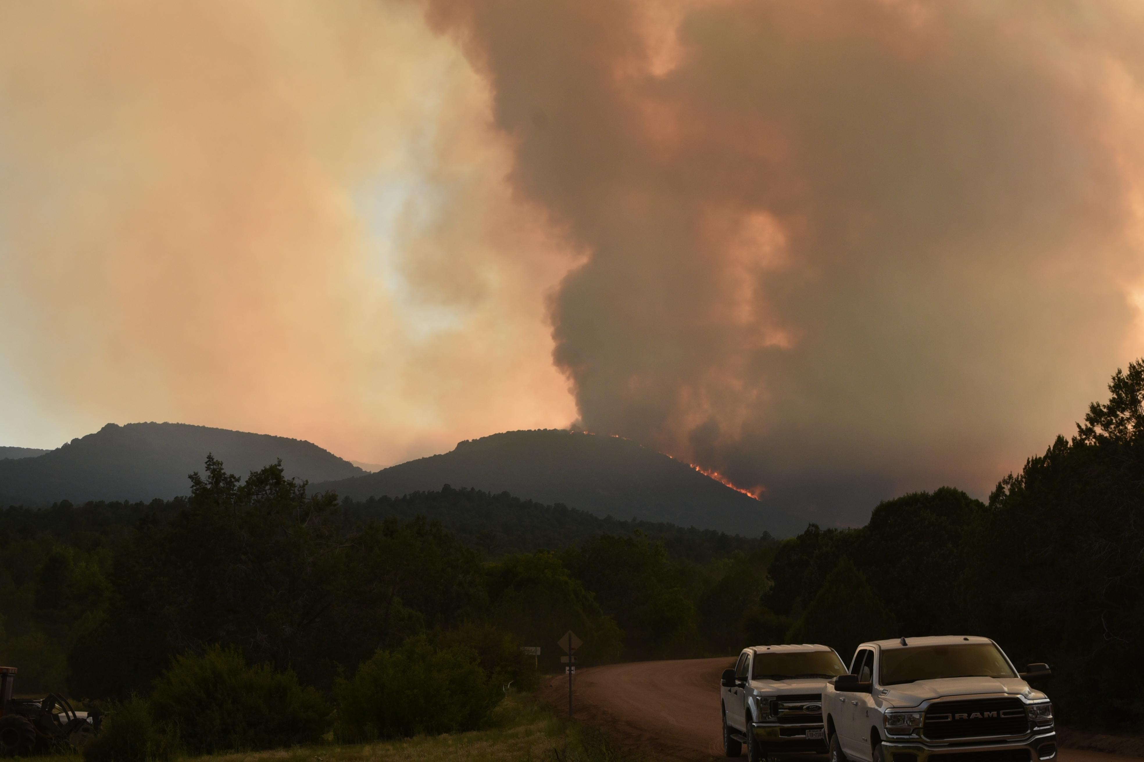 Sheridan Fire from Camp Wood Rd at FR 666