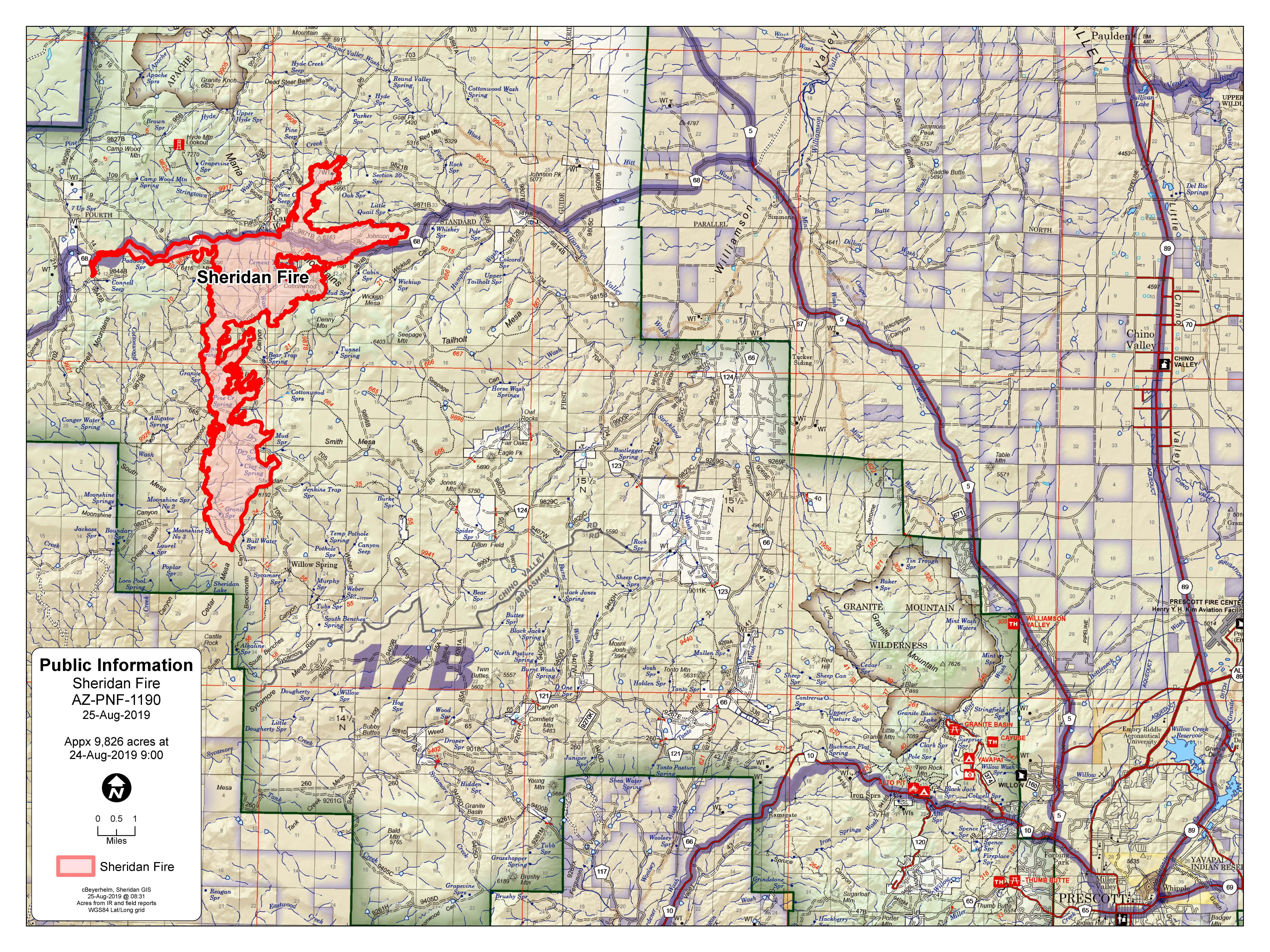 8-25 Sheridan Fire Map