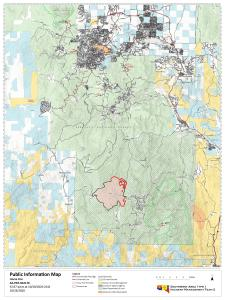 Horse Fire Map As of October 24, 2020