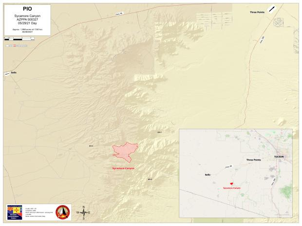 Sycamore Canyon Fire May 29, 2021