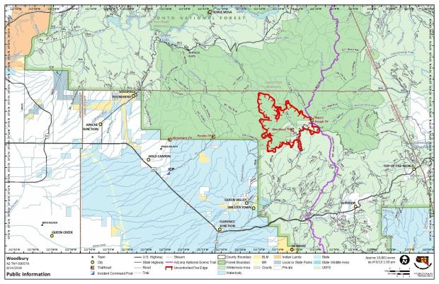 Fire Location Map June 13, 2019
