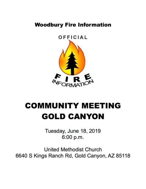 Gold Canyon Community Meeting poster - June 18