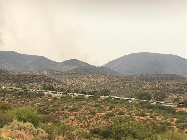 Lakeview Park after successful firing operations in Roosevelt, AZ